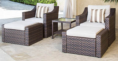 Solaura Sofa 5-piece outdoor furniture set