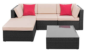 Tuoze Outdoor Patio Furniture 5 Piece Set