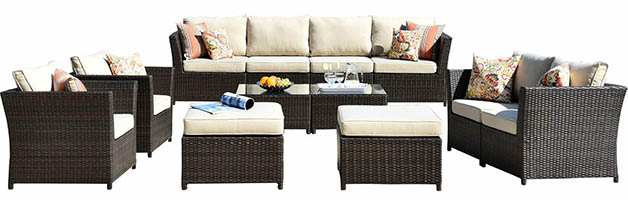 ovios 12-piece patio furniture set